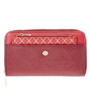 Faux Leather Dark Red & Gold  Wallet & Coin Purse,