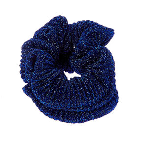 Blue Metallic Scrunchies,