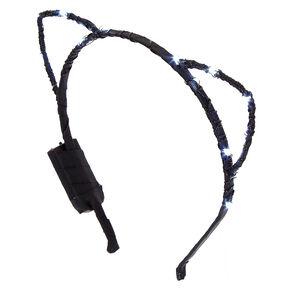 Black Light Up Cat Ears,