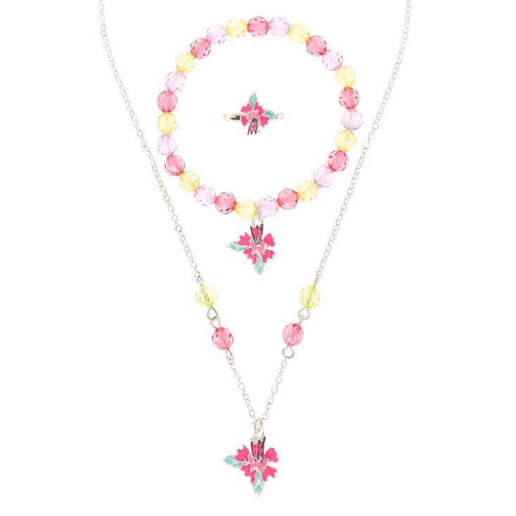 parure de bijoux hibiscus pour enfant claire 39 s fr. Black Bedroom Furniture Sets. Home Design Ideas