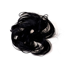 Black Faux Hair Curly Twister Hair Tie,