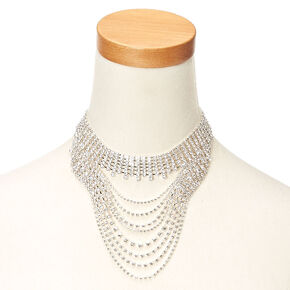 Wide Crystal Drop Choker,