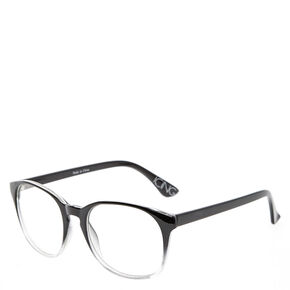 Black and Clear Ombre Round Frames,