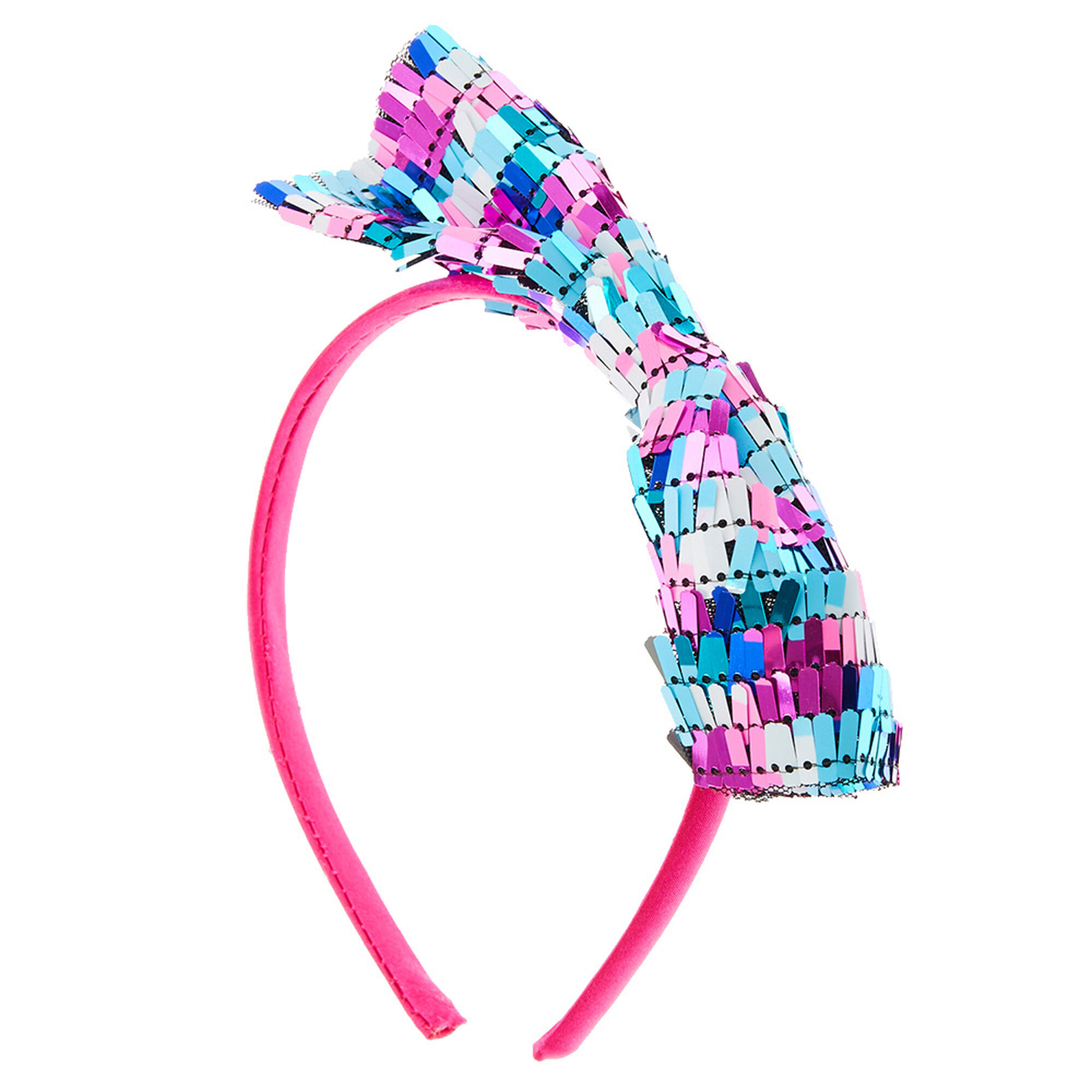 Pink Amp Blue Sequin Bow Headband Claire S Us