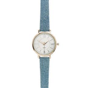 Blue Jean Denim Wristwatch,