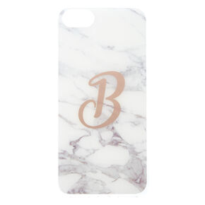 Marbled B Initial Phone Case,