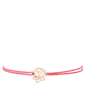 Pink Double Stretch Bracelet with Flower Pendant,