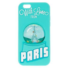 Paris Snow Globe Liquid Phone Case,