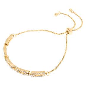 Gold-Tone Link Pull Knot Bracelet,