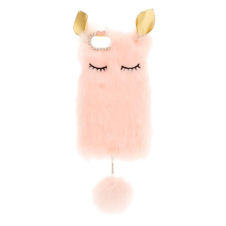 Pink Plush Animal Phone Case,