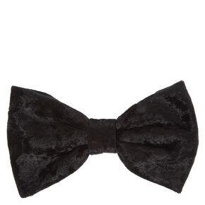 Black Velvet Hair Bow Clip,