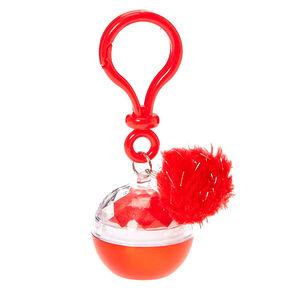 Metallic Red Lip Balm Pot Keychain,