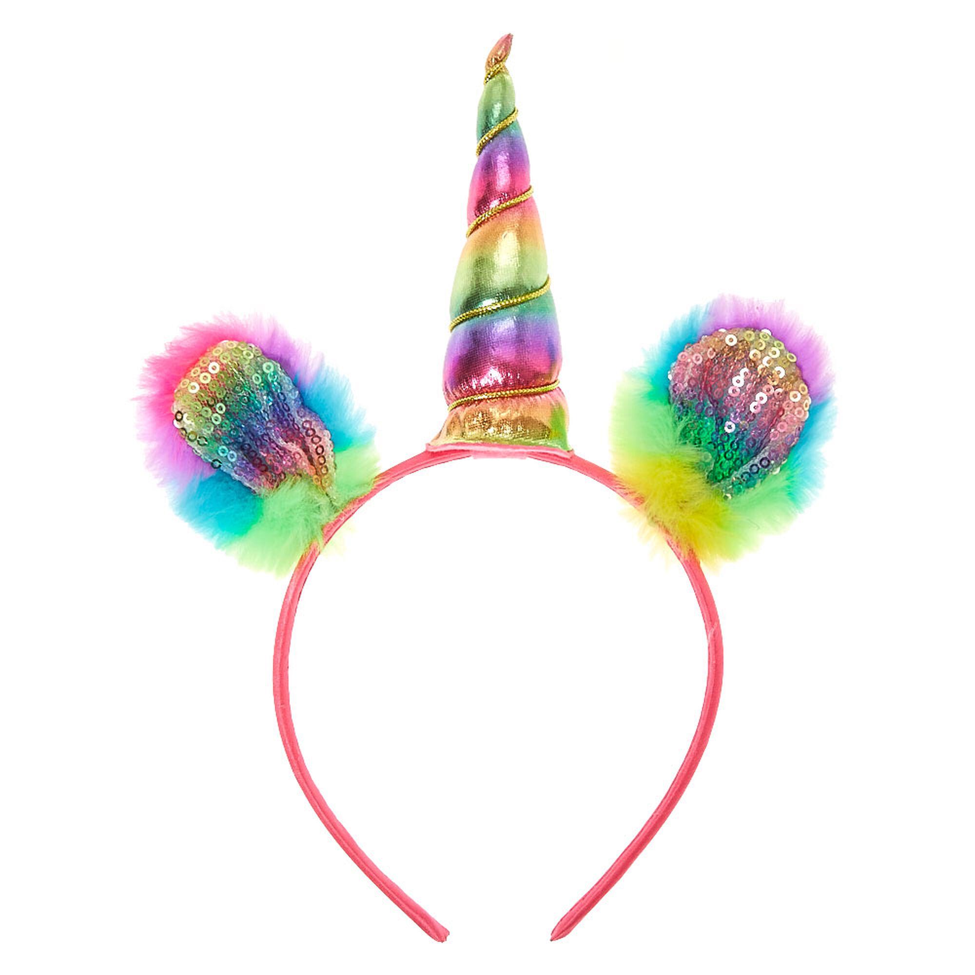 Kids Kid S Rainbow Unicorn Headband Claire S Us