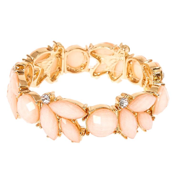 Blush Flower Stretch Bracelet,