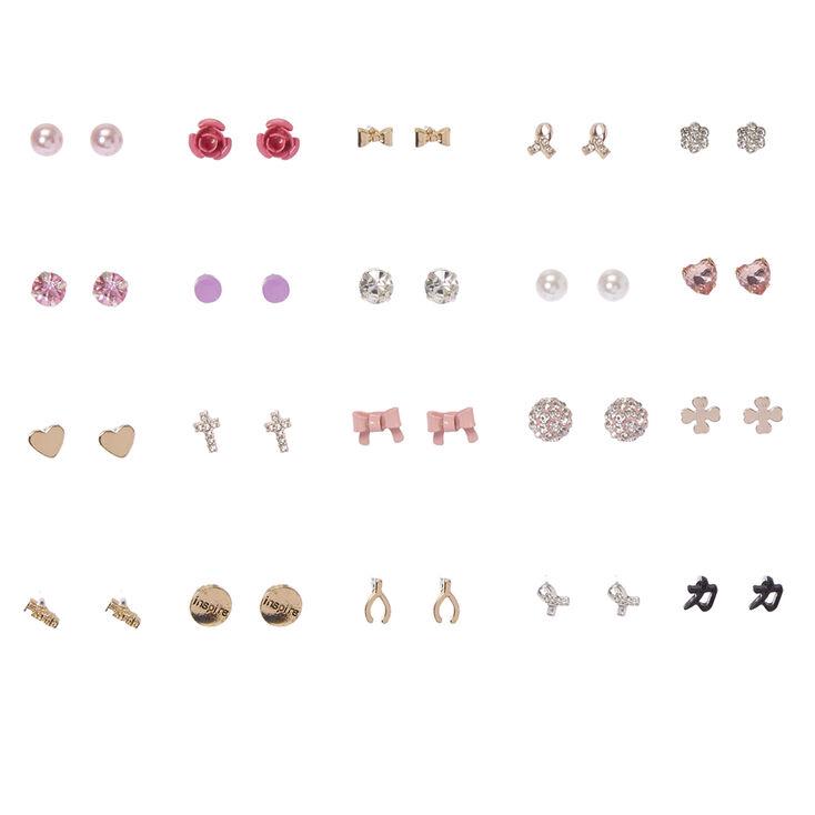 Ooh La La Sparkle Stud Earrings Set of 20,