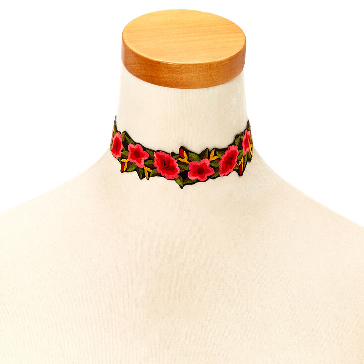 Floral Rose Choker Necklace,