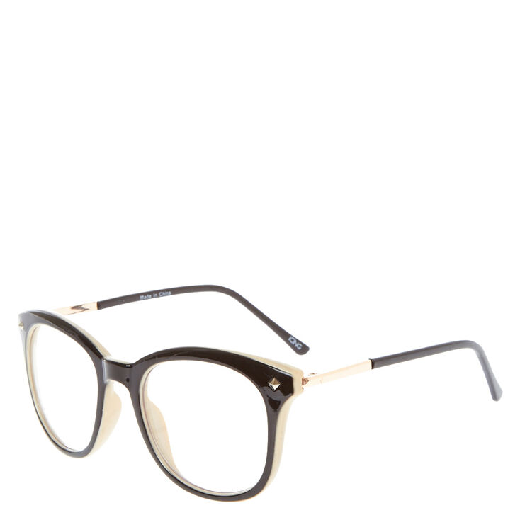 Retro Round Nude Fake Glasses,