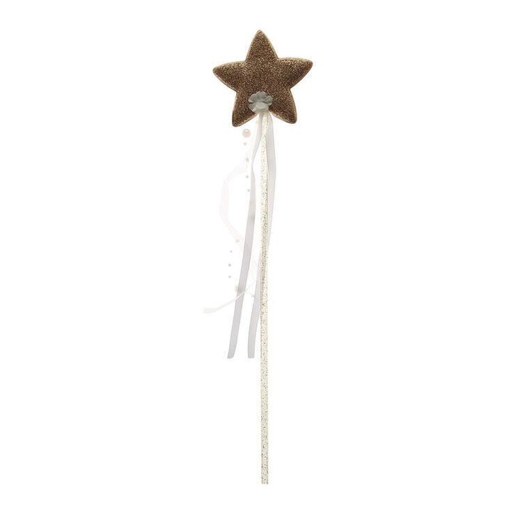 Kids gold glitter star wand claire 39 s for Glitter wand