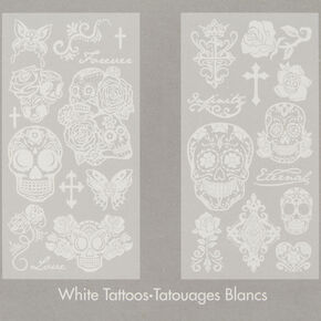 Skin Couture White Temporary Tattoos,