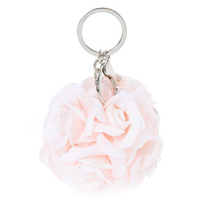 Pink Rose Ball Bouquet Keychain,