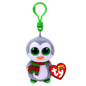 TY Beanie Boo Chilly the Penguin Keyring Clip,