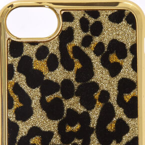 Metallic Gold Leopard Print Phone Case,