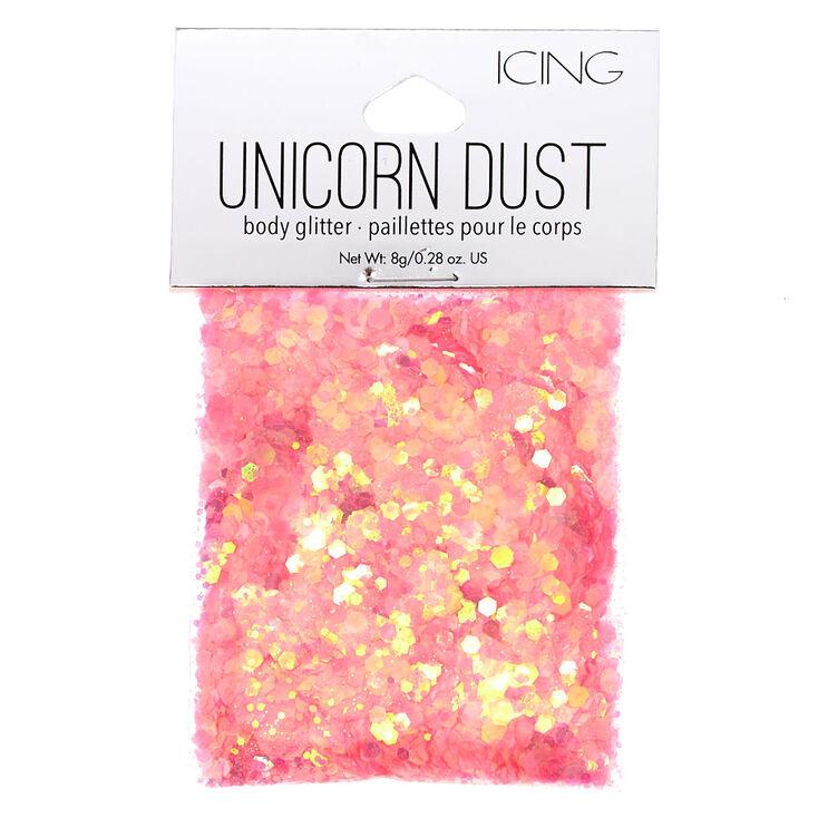 Coral Unicorn Dust Glitter Pouch,