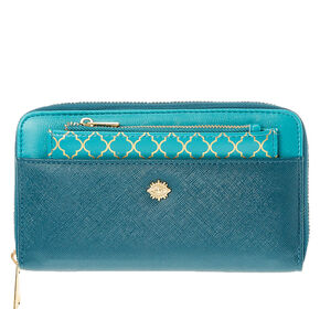 Faux Leather Turquoise & Gold  Wallet & Coin Purse,