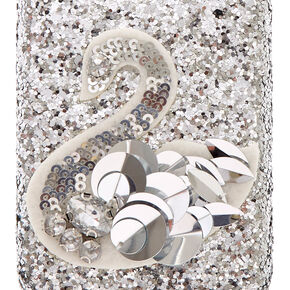 Silver Sequin Swan Phone Case,