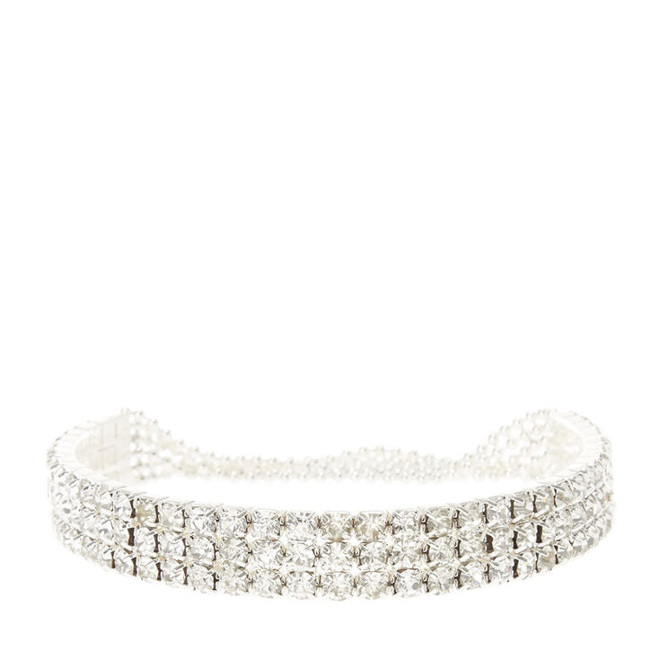 Crystal Rows and Pearl Stretch Bracelet at Icing in Victor, NY | Tuggl
