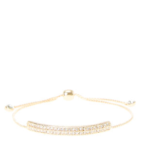 Gold Bar Knot Bracelet,