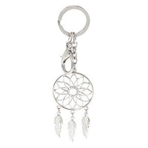 Silver-Tone Dream Catcher Keychain,