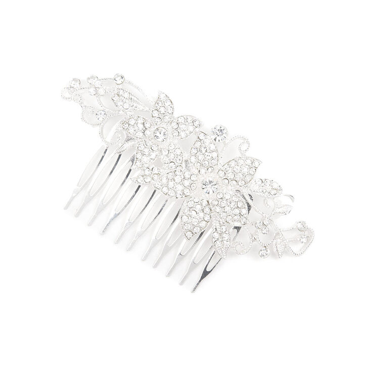 Pavé Crystal Flowers and Vines Hair Comb,