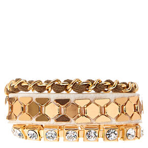 Rose Gold-Tone Glam Bracelets,