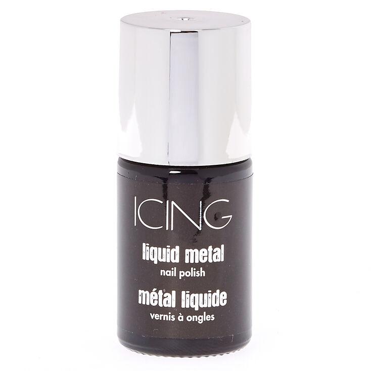 Silver Liquid Metal Nail Polish at Icing in Victor, NY | Tuggl