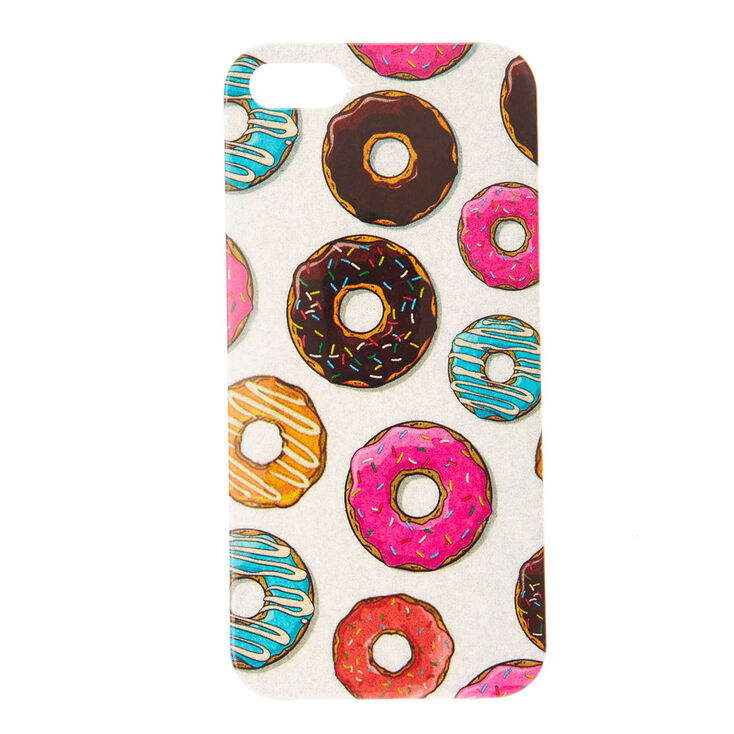 Silver Shimmer Donut Phone Case,