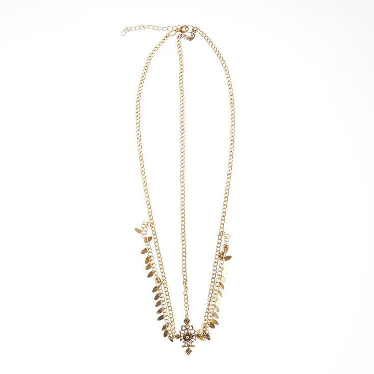 3-Way Gold Cleopatra Head Chain,