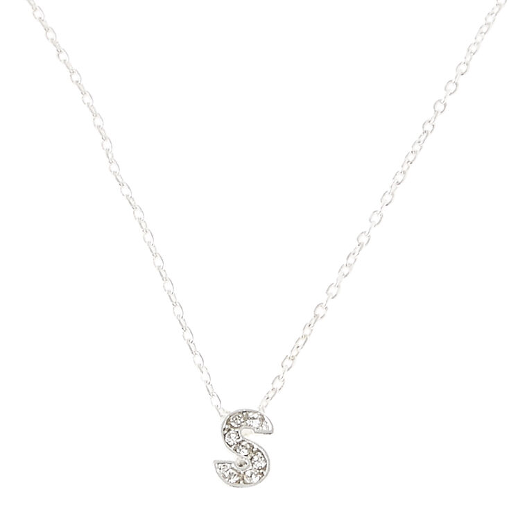 S Pendant Initial Necklace,