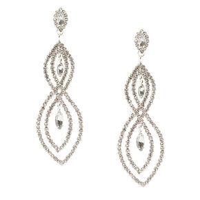 Crystal Figure 8 Drop Earrings,