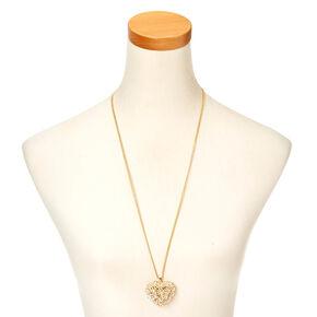 Daisy Heart Pendant Necklace,