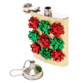 Confetti Gift Bow Flask,