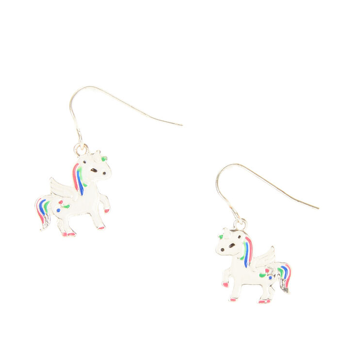 Unicorn Drop Earrings Claire S Us