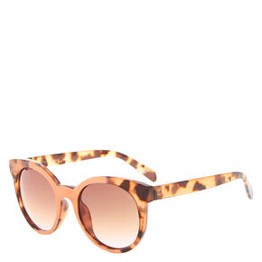 Coral and Tortoise Print Sunglasses,