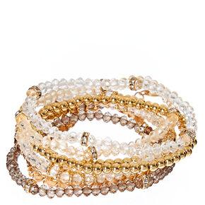 Neutral Beaded Bracelet Set,