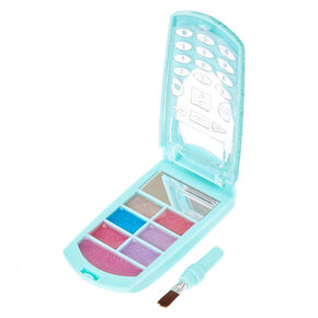 Blue Glitter Flip Phone Lip Gloss Palette,