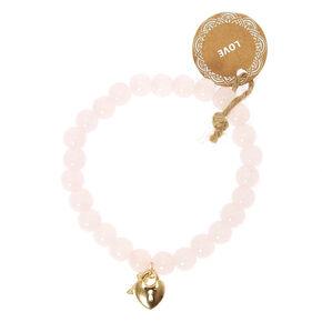 Pink Beaded Love Bracelet,