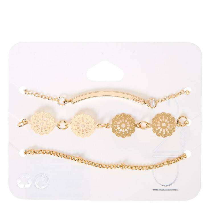 3 Piece Filigree Bracelet Set,