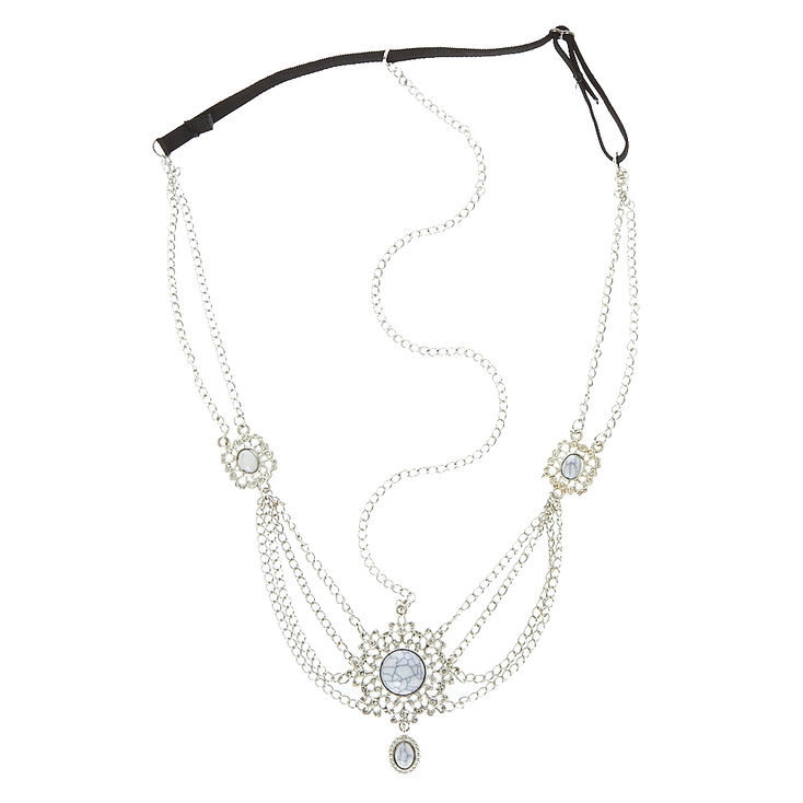 Silver and Marble Headchain,