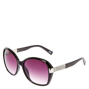 Black Bling Arm Tinted Sunglasses,