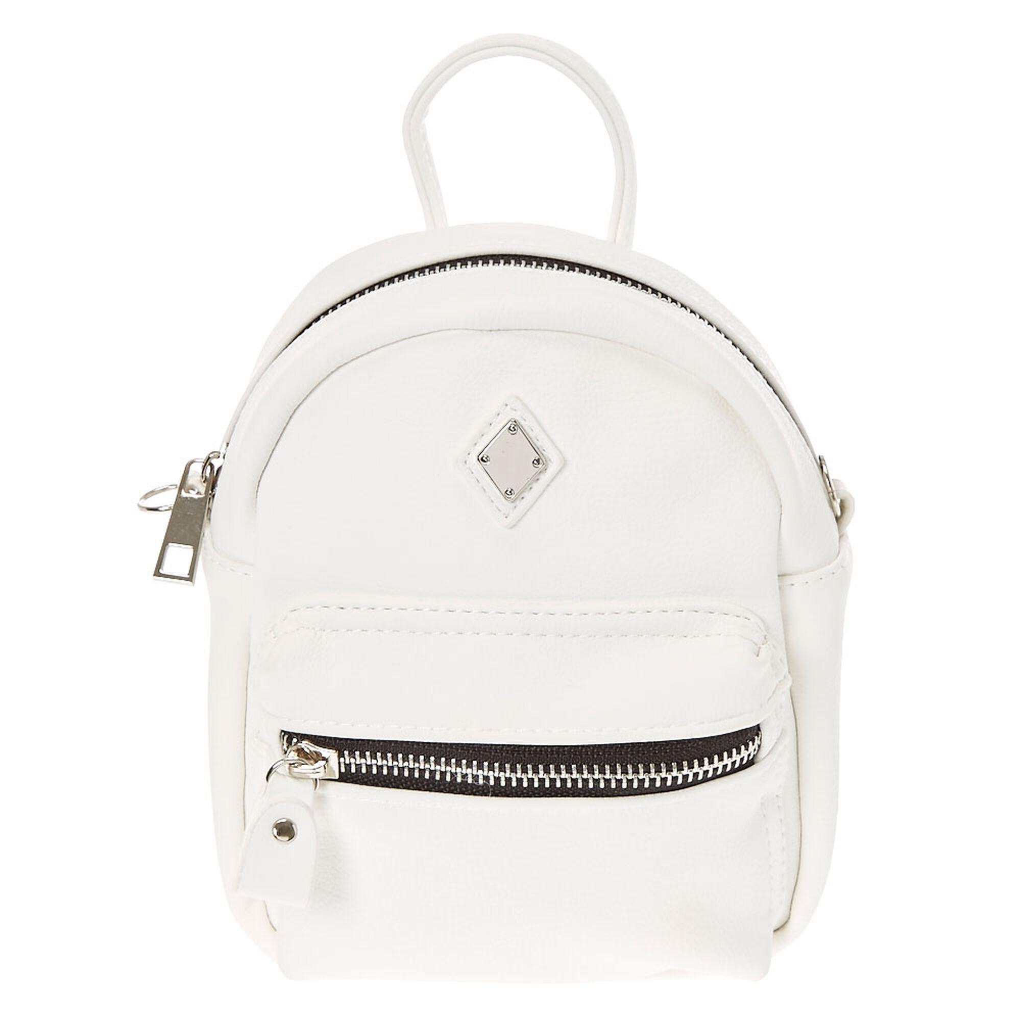 mini sac dos faux cuir blanc claire 39 s fr. Black Bedroom Furniture Sets. Home Design Ideas